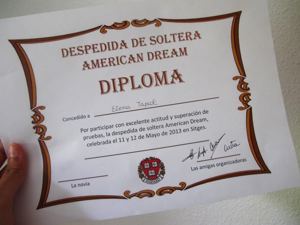 despedida de soltera imagenes diploma