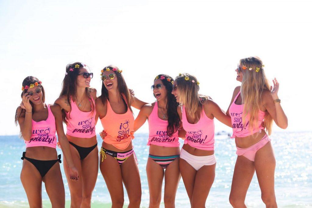 pruebas despedida de soltera en la playa
